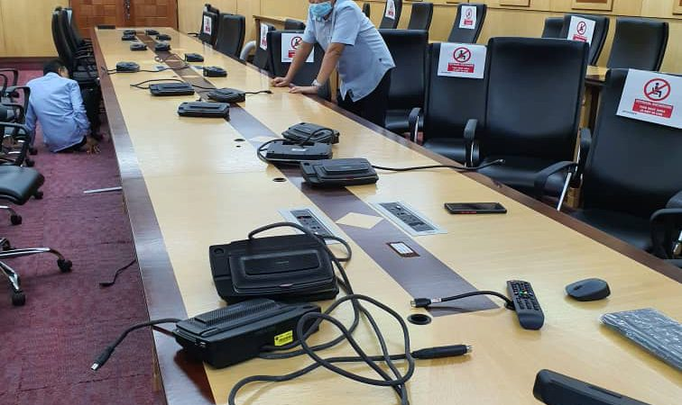 Removal of Conference System in Dar al-Hikmah Library 's Meeting Room