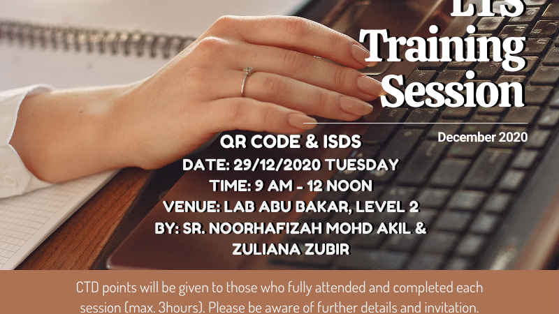 Invitation as a Participant to LTS Training Session December 2020 – Session 2